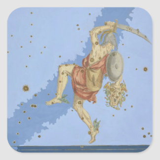 Perseus with the head of Medusa, from 'Uranometria Square Sticker