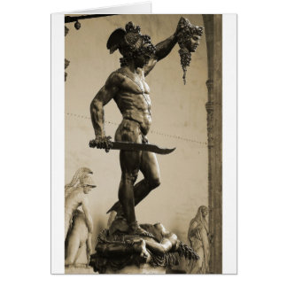 Perseus with the head of Medusa Greeting Card