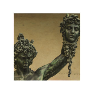 Perseus with the Head of Medusa in Florence Wood Print