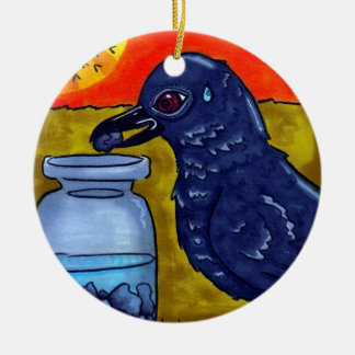 Perseverance Crow Christmas Ornament