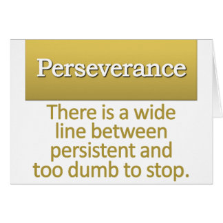 Perseverance Definition Cards