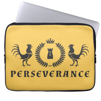 Perseverance Roosters Blazon Laptop Computer Sleeves