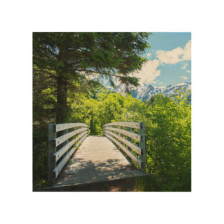 Perseverance Trail Bridge Wood Print