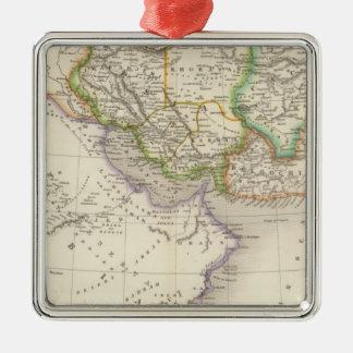 Persia and Arabia Silver-Colored Square Decoration