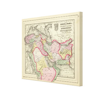 Persia, Arabia, Turkey, Afghanistan, Beloochistan Canvas Print