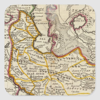 Persia, Caspian Sea, part of Independent Tartary Square Sticker