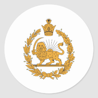 Persia Coat Of Arms Round Sticker
