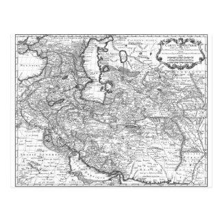 Persia Map 1724 Postcard