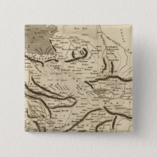 Persia Map by Arrowsmith 15 Cm Square Badge