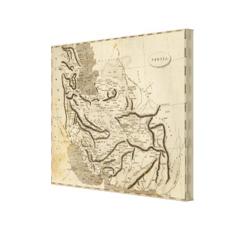 Persia Map by Arrowsmith Canvas Print