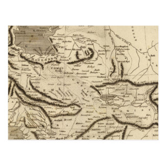 Persia Map by Arrowsmith Postcard