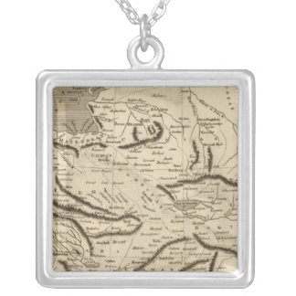 Persia Map by Arrowsmith Silver Plated Necklace