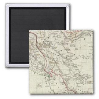 Persia, Ottoman Empire Square Magnet
