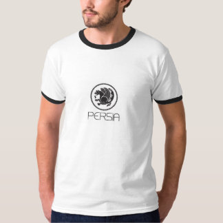 Persia Ringer T-Shirt, White/Black T-Shirt