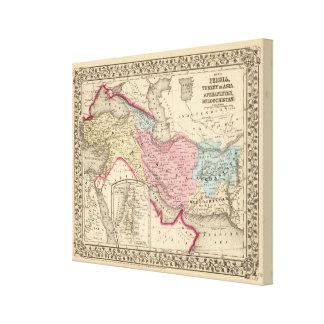 Persia, Turkey, Afghanistan, Beloochistan Canvas Print