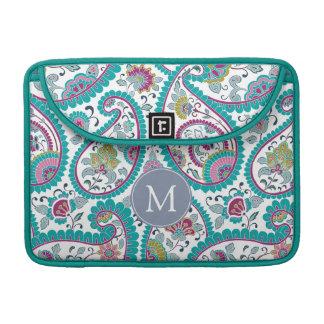Persian Boteh Paisley Pattern Monogram Mac Sleeve