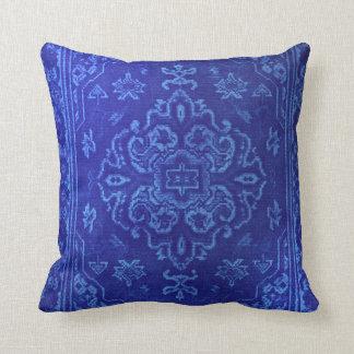 Persian carpet look in blue cushion