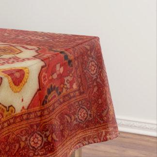 Persian carpet look in copper color tablecloth