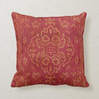 Persian carpet look in orange cushion