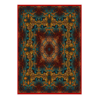 Persian Carpet No 1 Poster