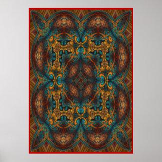 Persian Carpet No 2 Poster