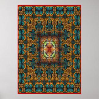 Persian Carpet No 3 Poster