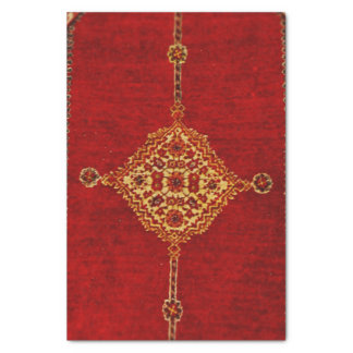 Persian carpet pattern tissue paper