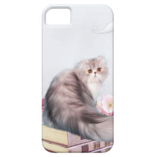 Persian cat and books barely there iPhone 5 case