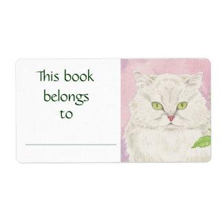Persian Cat book label