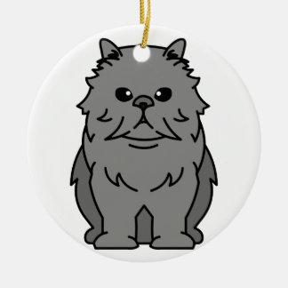 Persian Cat Cartoon Christmas Ornament