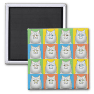 Persian Cat Cartoon Pop-Art (Doll-Face) Magnet