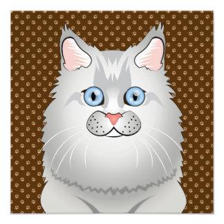 Persian Cat (Doll-Face) Cartoon Art Photo