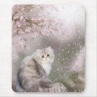 Persian cat mouse mat