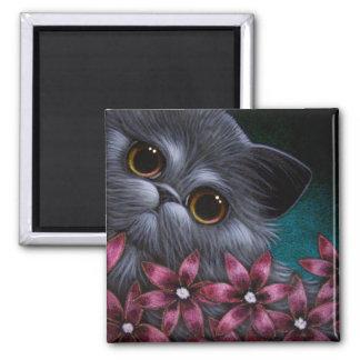 PERSIAN CAT - PINK FLOWERS Magnet