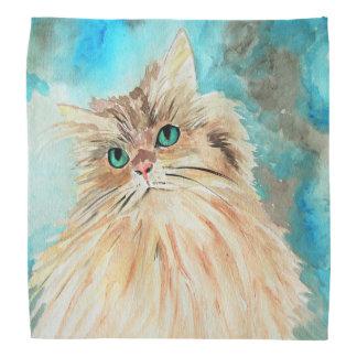 Persian Cat Watercolor Art Bandannas