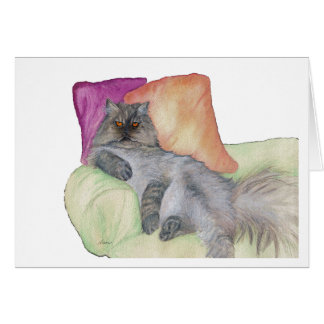 Persian Cat with Attitude Blank Card