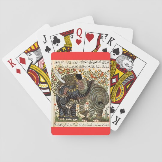 Persian Elephant playing cards