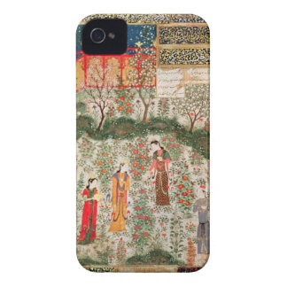 Persian Garden, 15th century (w/c on paper) iPhone 4 Covers