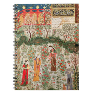 Persian Garden, 15th century (w/c on paper) Spiral Notebooks
