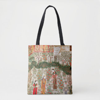 Persian Garden, 15th century (w/c on paper) Tote Bag