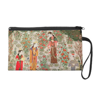 Persian Garden, 15th century (w/c on paper) Wristlet Clutches