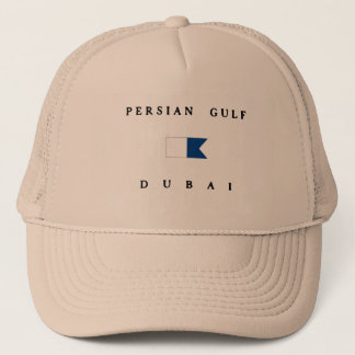 Persian Gulf Dubai Alpha Dive Flag Trucker Hat