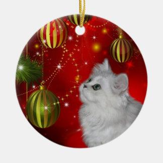 Persian kitten Christmas Christmas Ornament