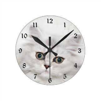 Persian kitten face wallclocks
