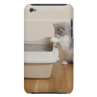 Persian Kitten looking at litter box iPod Touch Case-Mate Case
