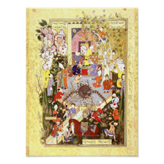 Persian Miniature: A Father Advises His Son Poster