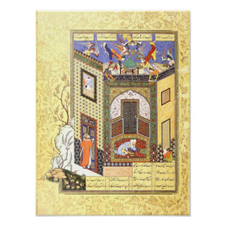 Persian Miniature: A Vision of Angels Poster
