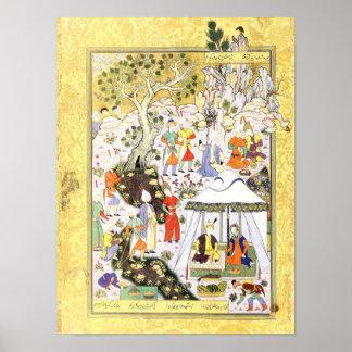 Persian Miniature: Khusraw Parviz & Shirin Poster