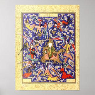 Persian Miniature: The Mi'raj of the Prophet Poster