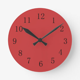 Persian Red Kitchen Wall Clock